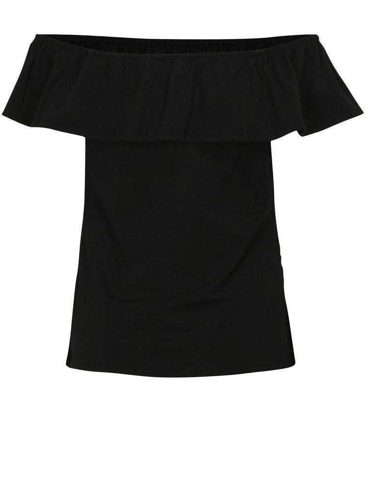 Černé těhotenské tričko s odhalenými rameny Dorothy Perkins Maternity