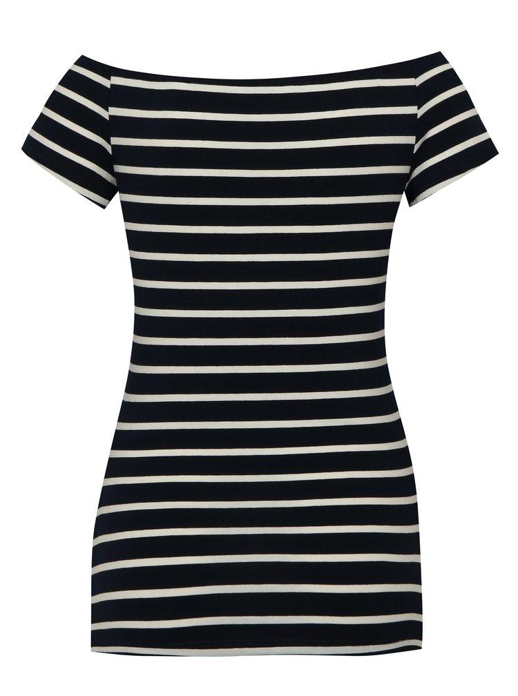 Krémovo-modré pruhované těhotenské tričko Dorothy Perkins Maternity