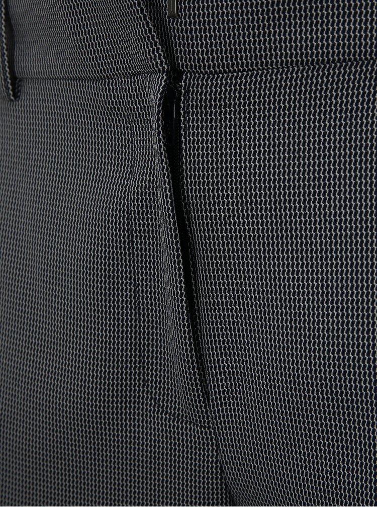 Šedé vzorované kalhoty s klasickým pasem Dorothy Perkins