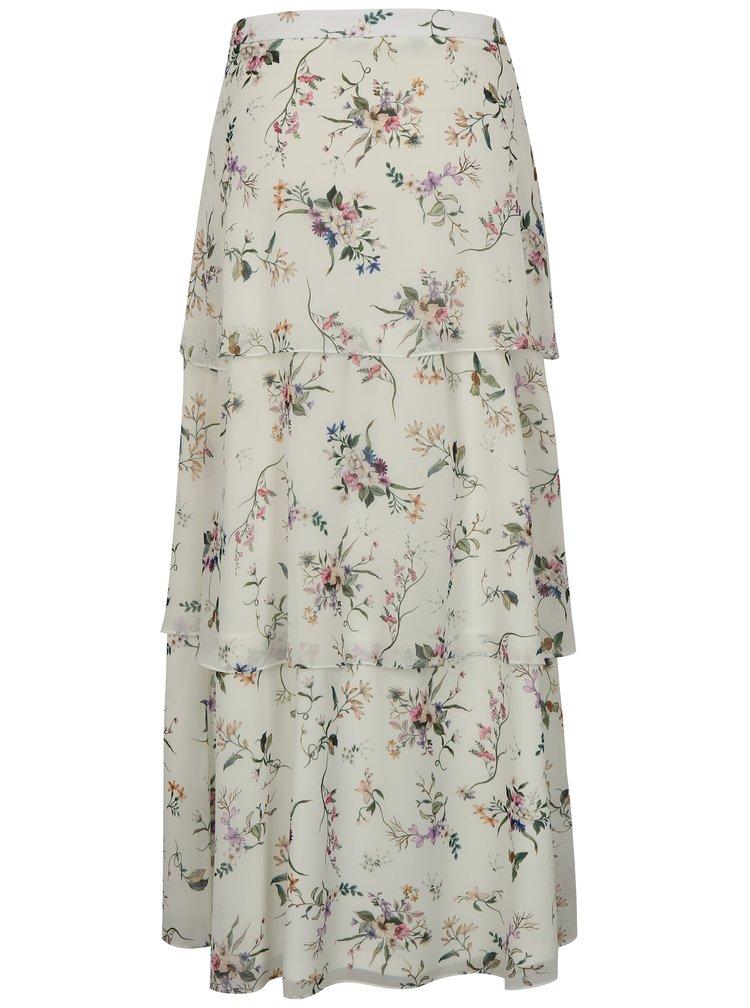 Bílá květovaná maxi sukně Dorothy Perkins