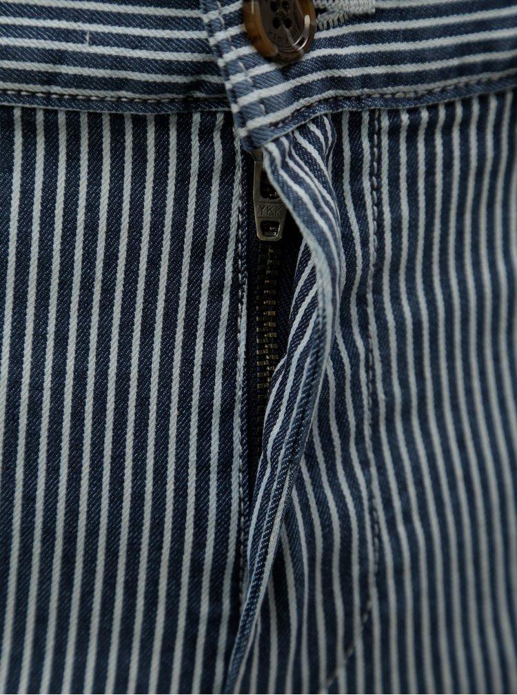 Tmavě modré pánské pruhované chino kraťasy Tommy Hilfiger