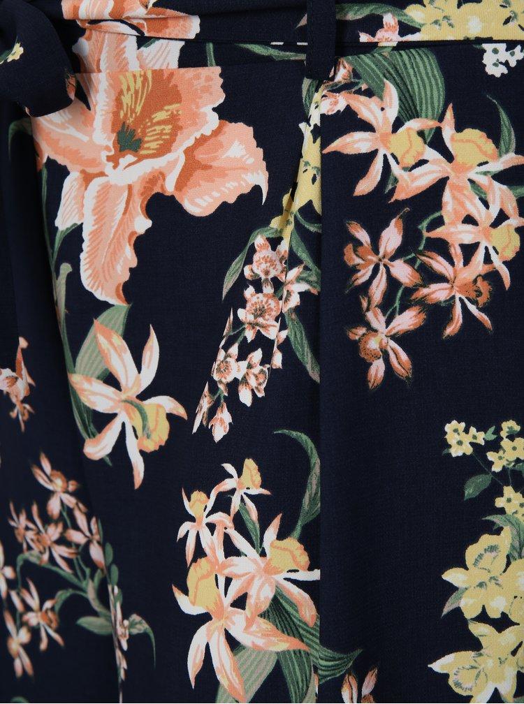 Pantaloni scurti albastru inchis cu model floral Dorothy Perkins Curve
