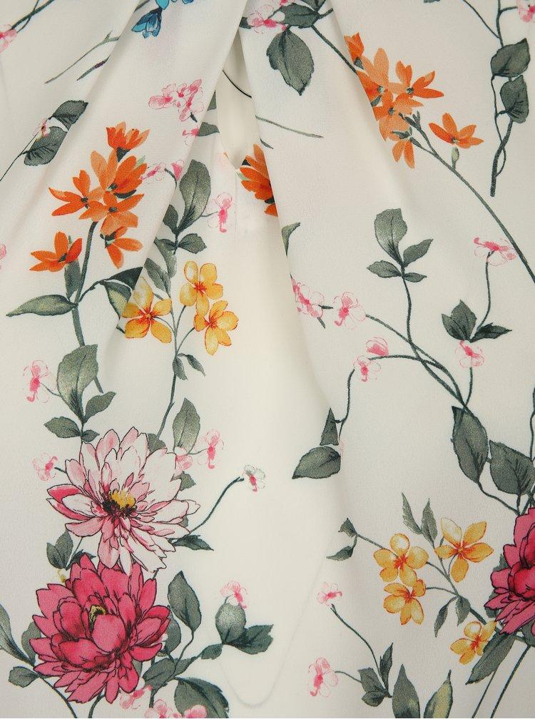 Bílá květovaná halenka Dorothy Perkins Curve