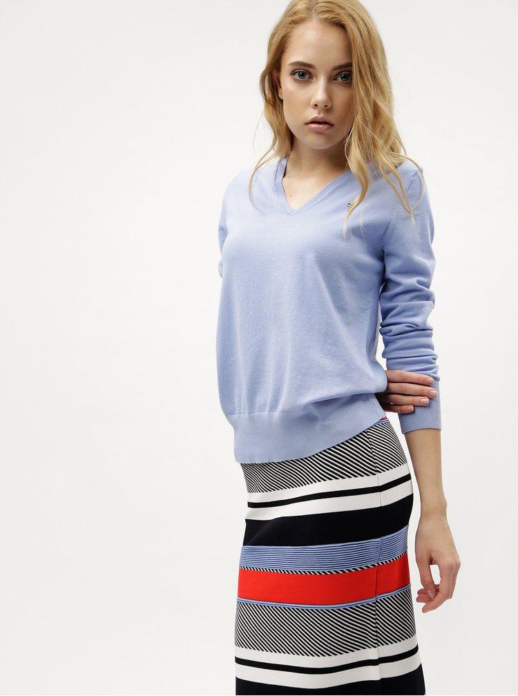 Červeno-modrá pruhovaná sukně Tommy Hilfiger