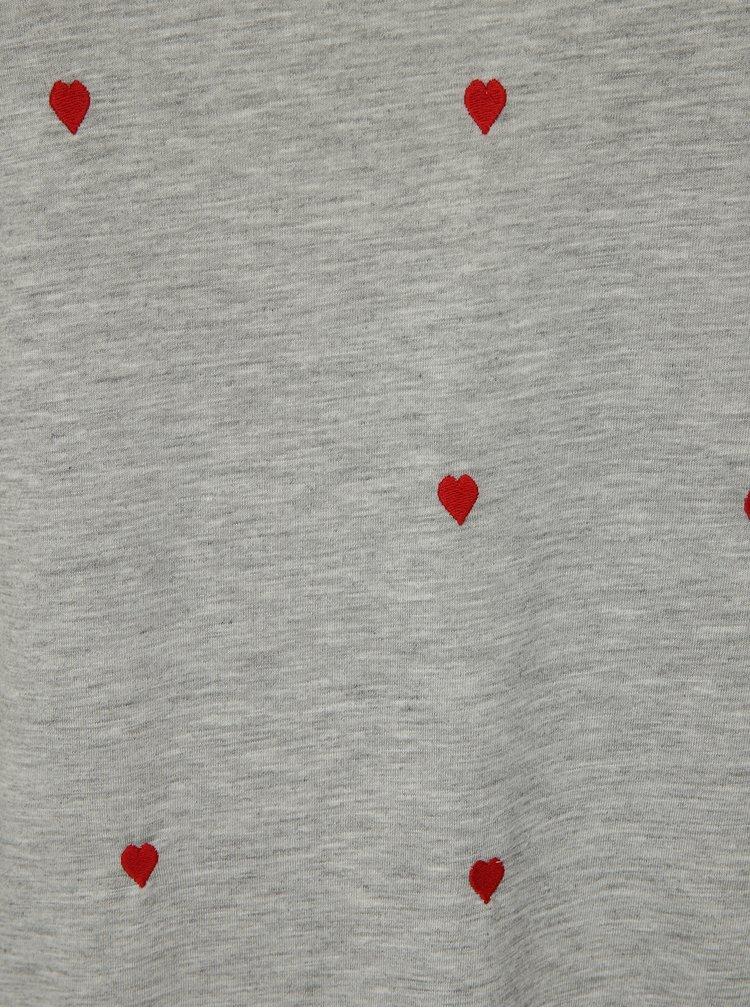 Šedé vzorované tričko s krátkým rukávem Dorothy Perkins Curve