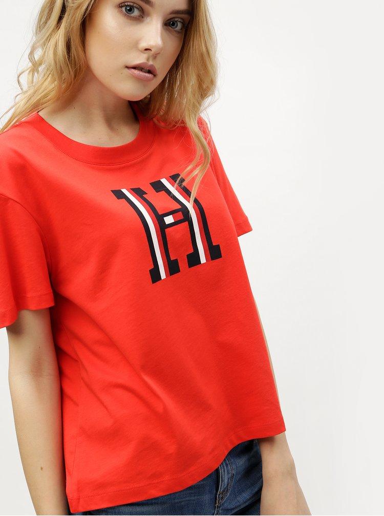 Červené dámské tričko Tommy Hilfiger