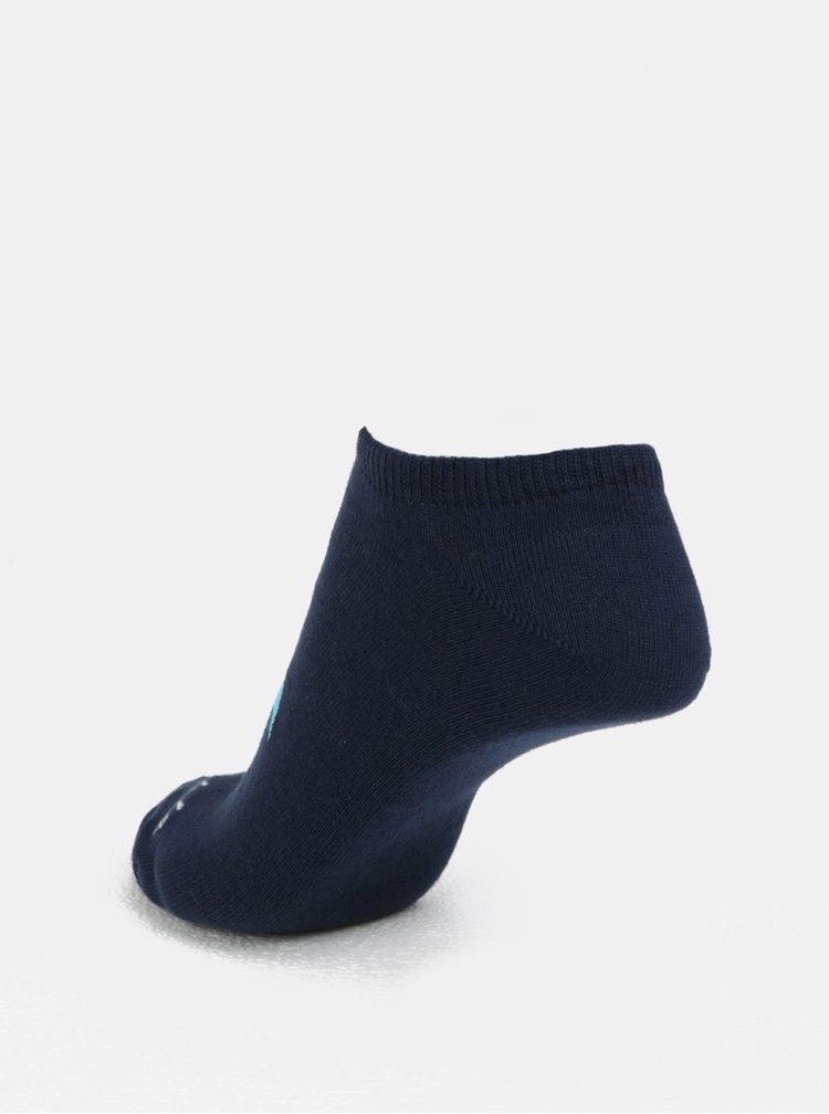 Tmavě modré unisex kotníkové ponožky Fusakle Plameniak