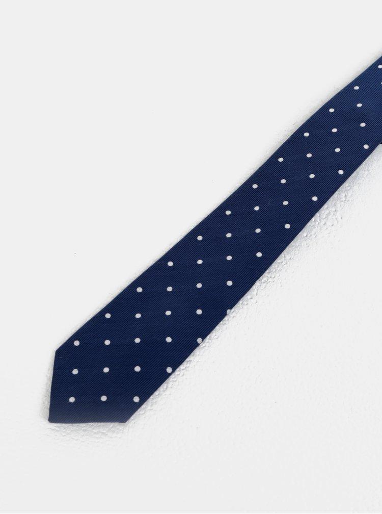 Cravata albastru inchis cu buline Jack & Jones