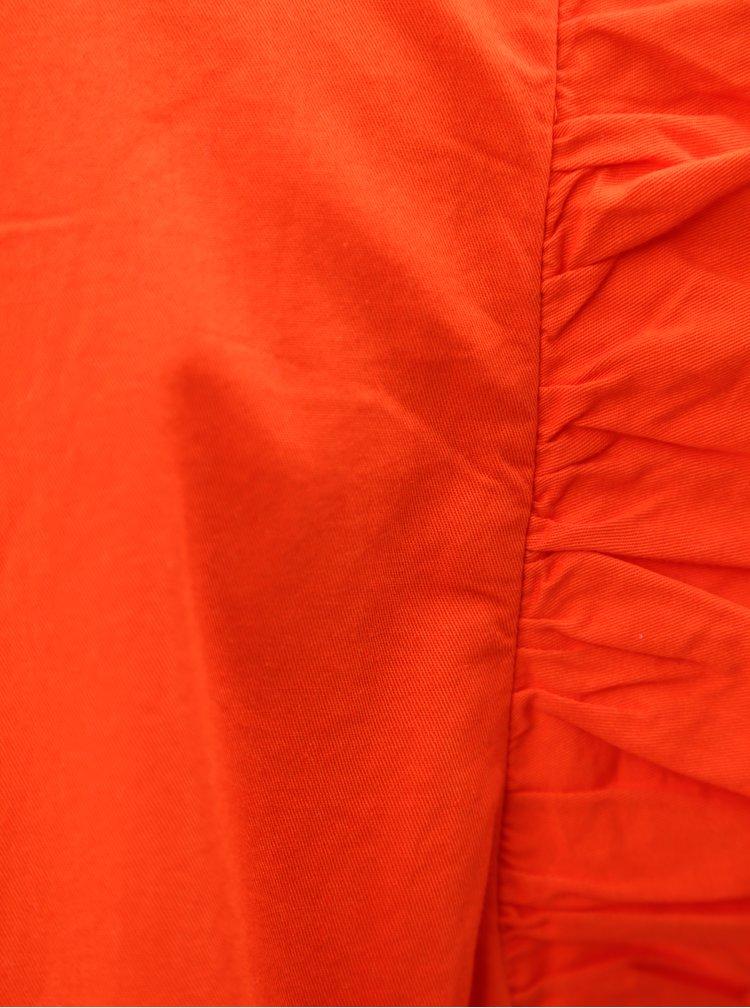 Červené šaty s volánovými rukávy VILA Halah