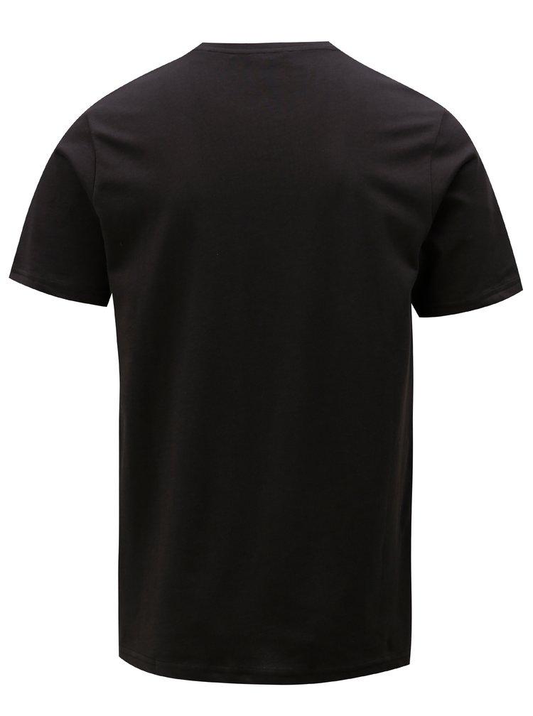 Černé tričko s náprsní kapsou ONLY & SONS
