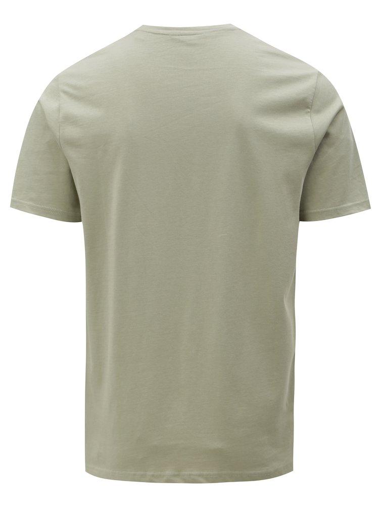 Světle zelené tričko s náprsní kapsou ONLY & SONS