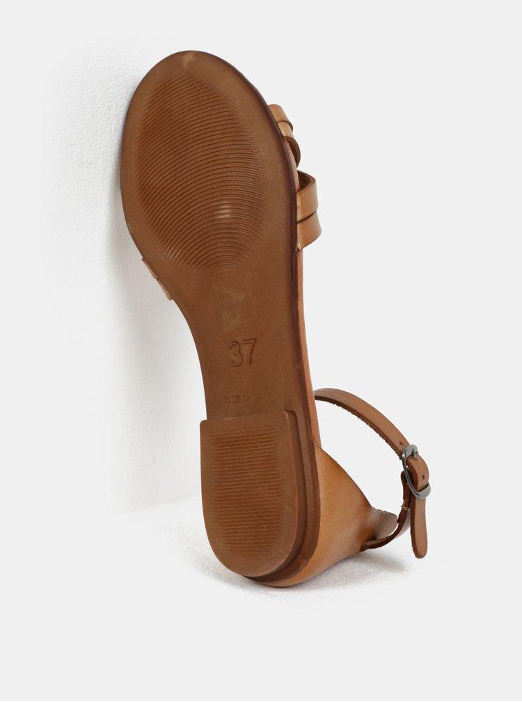 Hnědé kožené sandály OJJU
