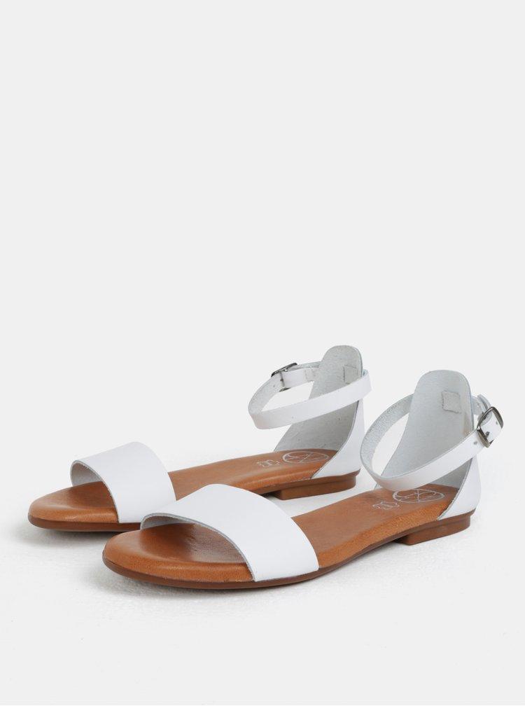 Bílé kožené sandály OJJU