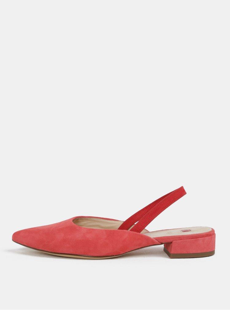 Růžové semišové pantofle Högl