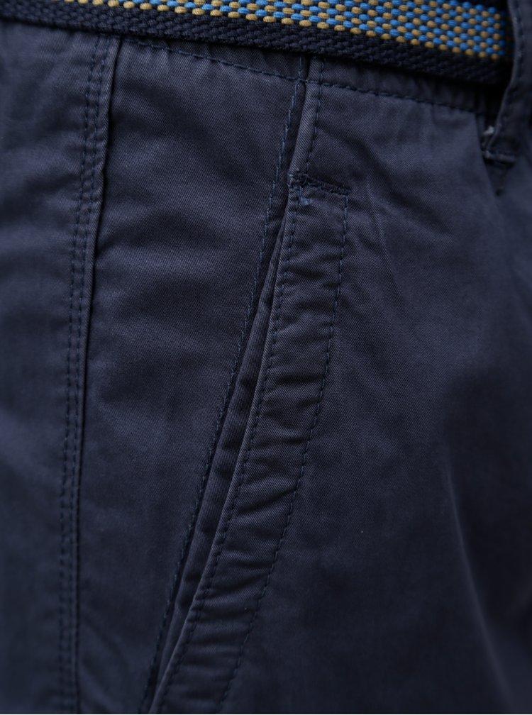 Tmavě modré kraťasy s páskem Blend