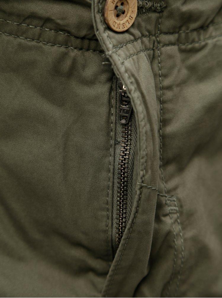 Khaki kraťasy s páskem a kapsami Blend