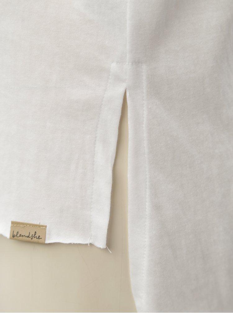 Bílé tričko s véčkovým výstřihem Blendshe Mal