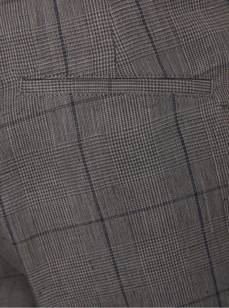 Pantaloni gri in carouri din in Lindbergh