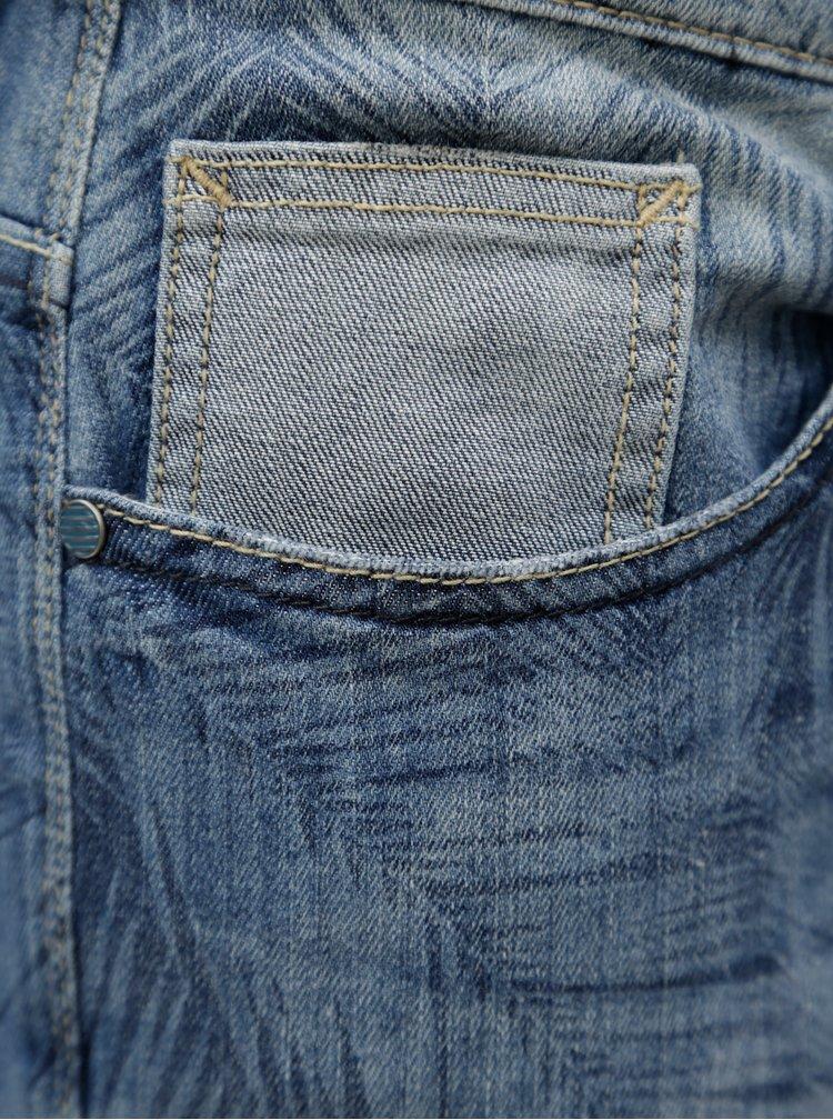 Modré džínové kraťasy s drobným vzorem Blend