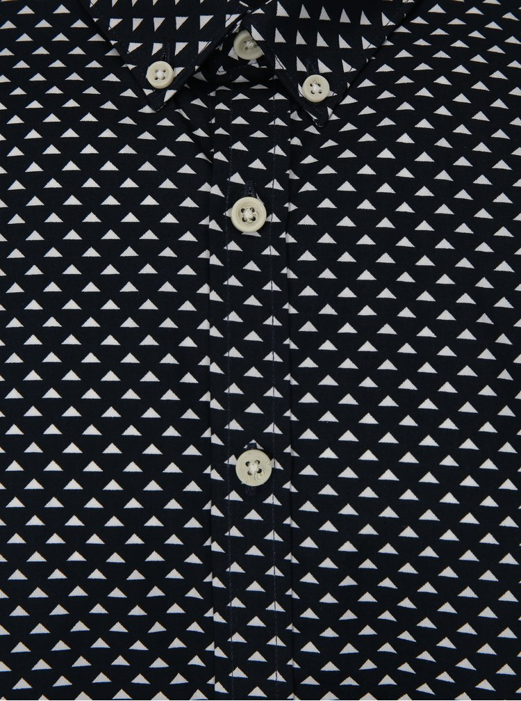 Tmavě modrá vzorovaná košile s dlouhým rukávem Lindbergh
