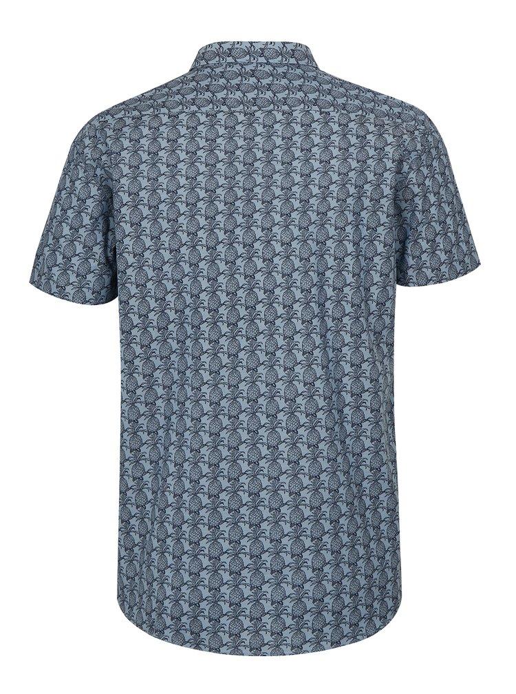 Svetlomodrá vzorovaná košeľa s krátkym rukávom Lindbergh