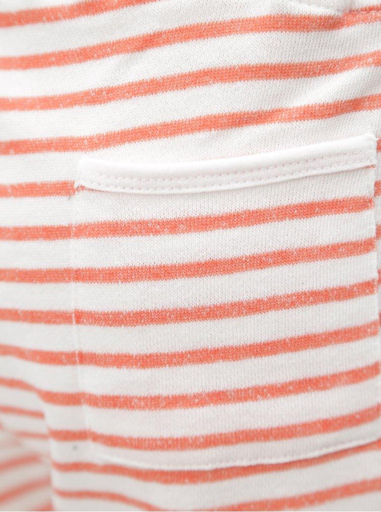 Bílo-červené pruhované teplákové kraťasy Blendshe Cilie
