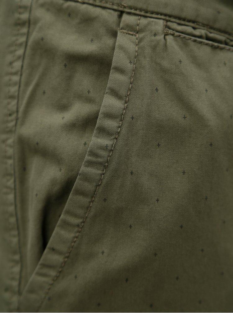 Khaki vzorované chino kraťasy Blend