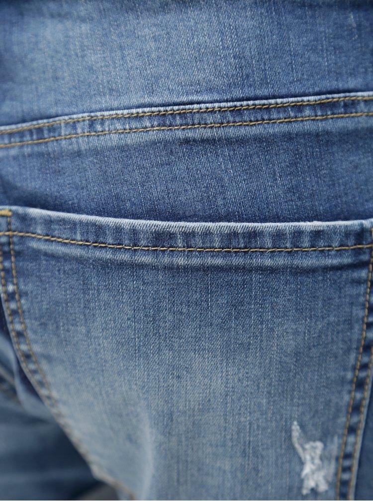 Modré džínové kraťasy se šňůrkou v pase Blendshe Casual
