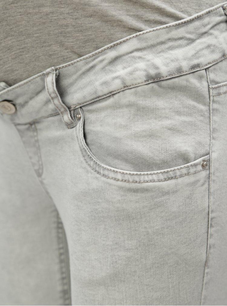 Světle šedé těhotenské slim fit džíny Mama.licious Detroit