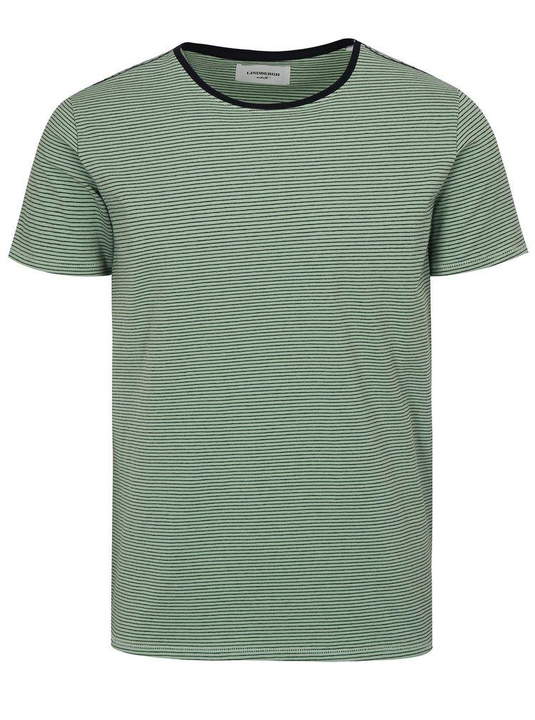 Světle zelené pruhované tričko s krátkým rukávem Lindbergh
