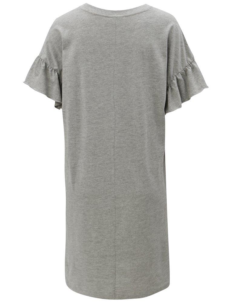 Šedé žíhané šaty s krátkým rukávem Noisy May Bryn