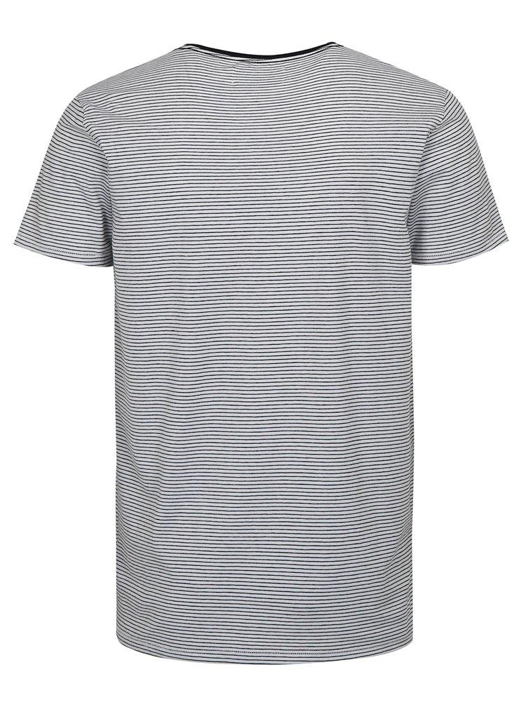 Bílé pruhované tričko s krátkým rukávem Lindbergh