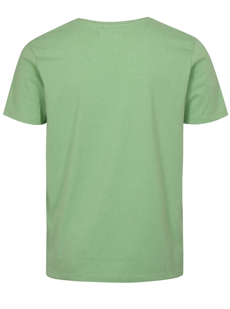 Světle zelené basic tričko s krátkým rukávem Lindbergh