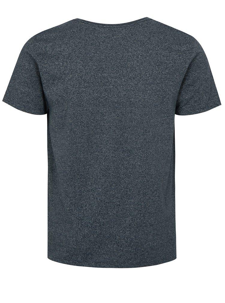 Tmavě modré žíhané basic tričko s krátkým rukávem Lindbergh