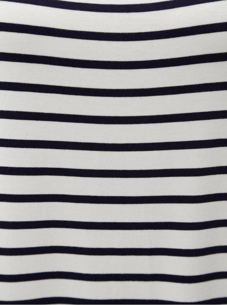 Modro-bílé pruhované tričko s překládanou zadní částí  Blendshe Honey