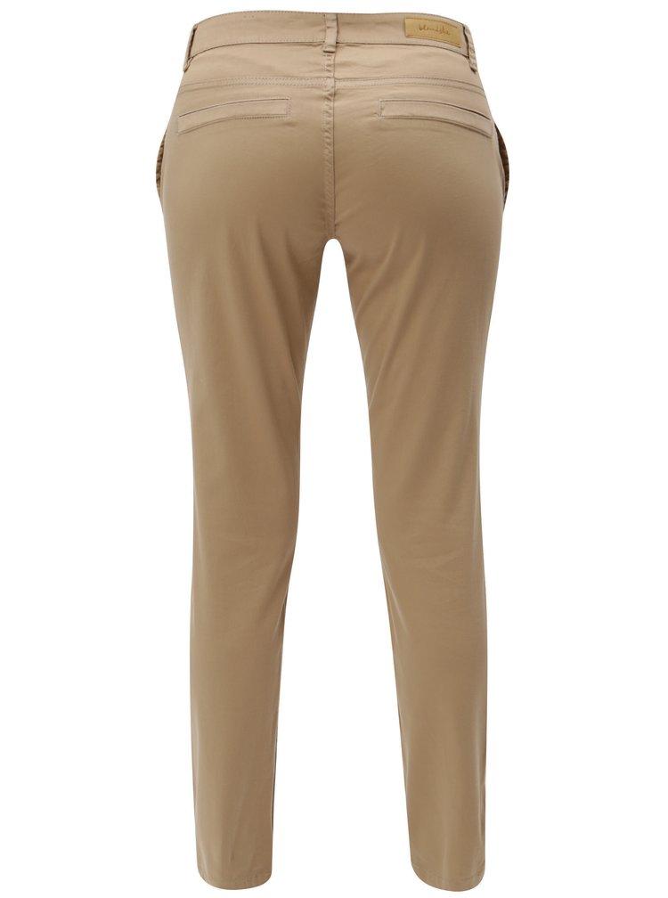 Hnědé chino kalhoty Blendshe Casual Aze