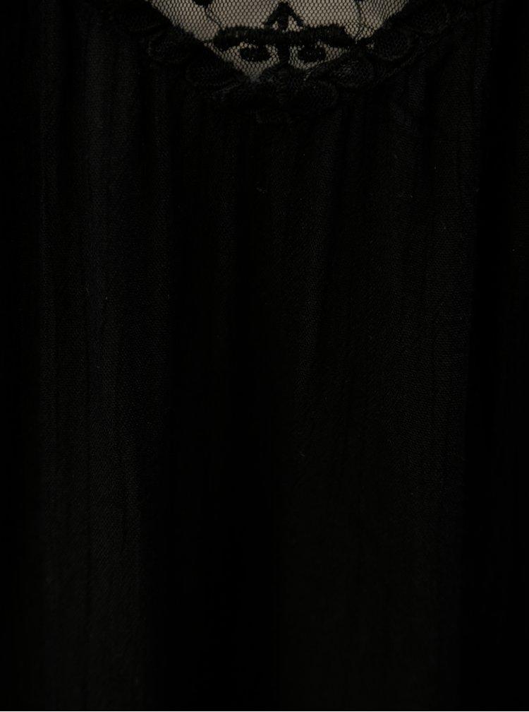 Černá halenka na tenká ramínka Blendshe Karodal