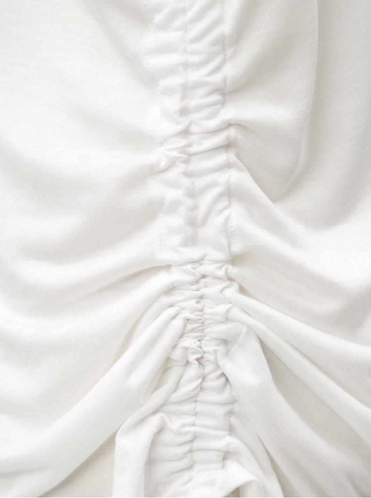 Bílé tílko s řasením na boku Blendshe Naia