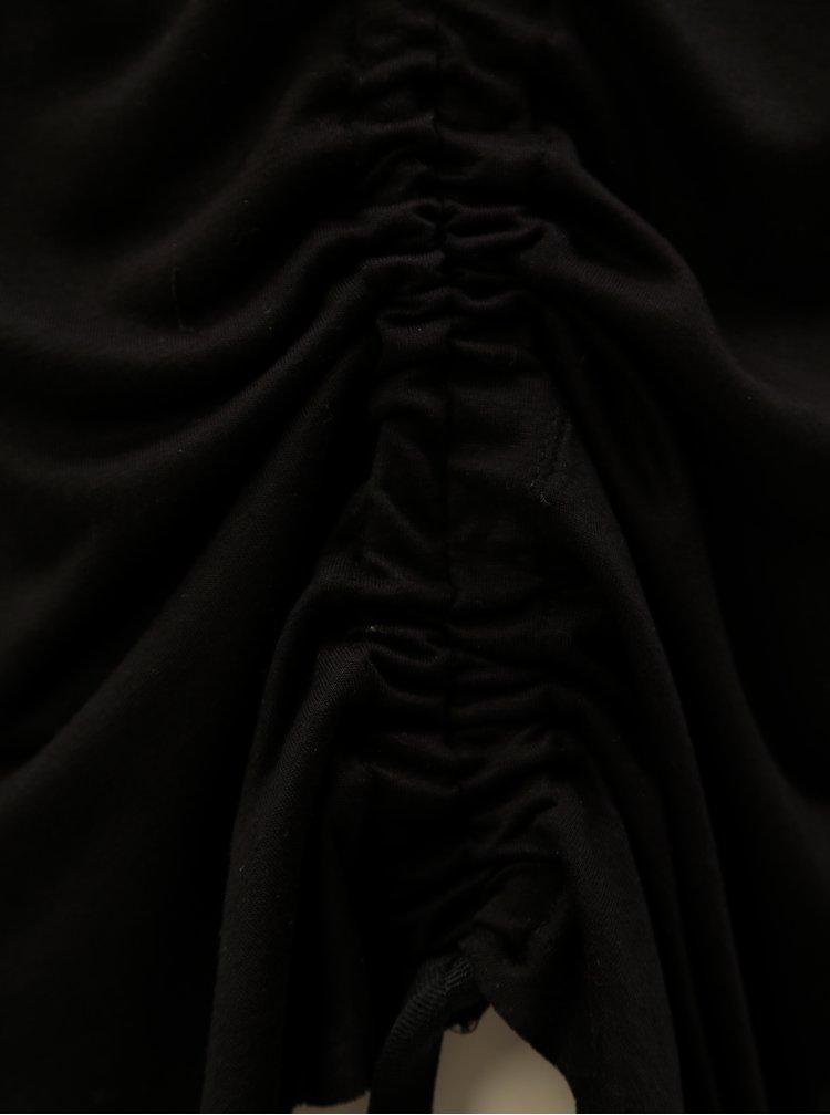 Čierne tielko s nazberkaním na boku Blendshe Naia