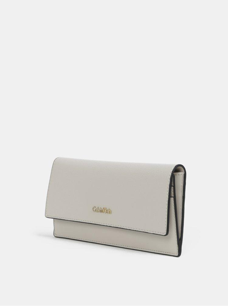 Béžová velká dámská peněženka Calvin Klein Jeans