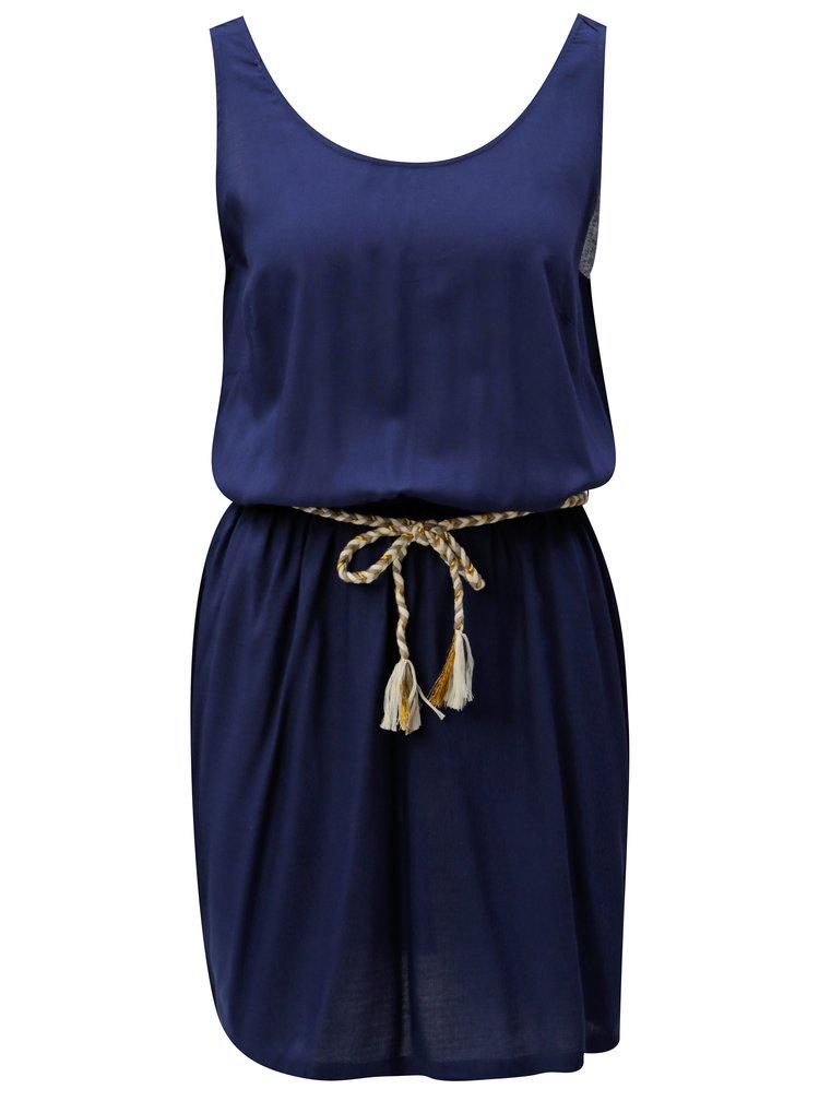 Tmavomodré áčkové šaty Blendshe Ellen