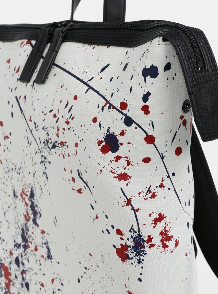 Bílý vzorovaný batoh Calvin Klein Jeans