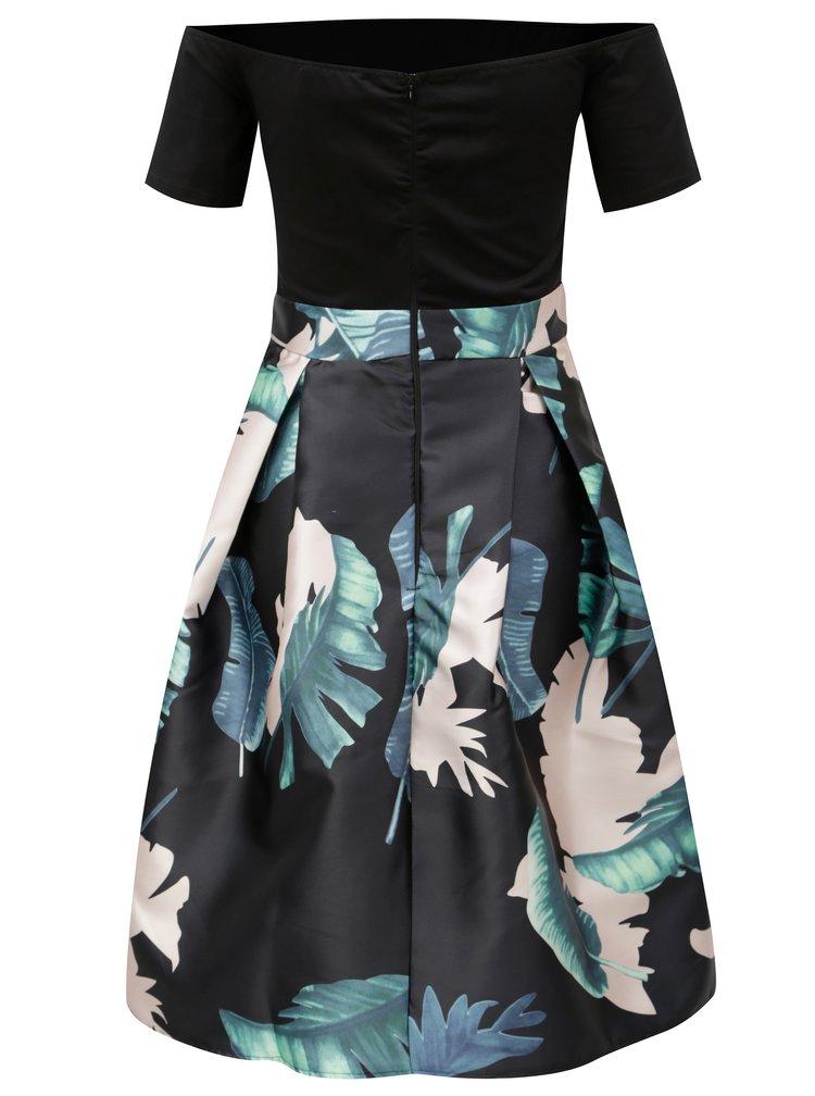 Černé áčkové šaty s odhalenými rameny AX Paris