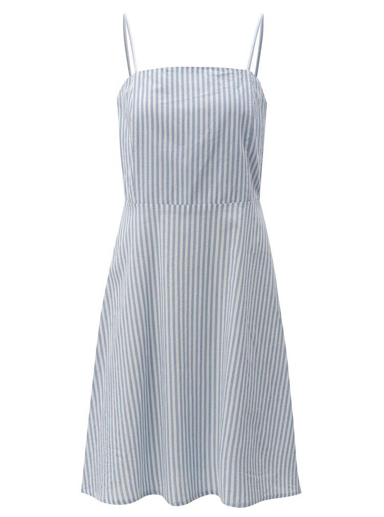 Svetlomodré pruhované šaty na ramienka Blendshe Camilia