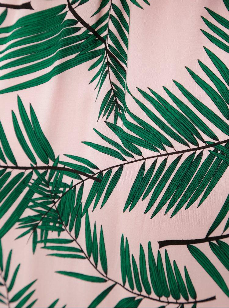 Zeleno-růžové vzorované maxišaty na ramínka Blendshe Adeli