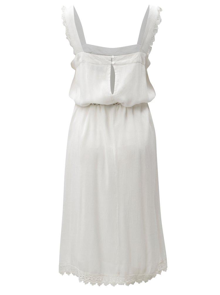 Bílé šaty s krajkovými detaily Blendshe Karodal