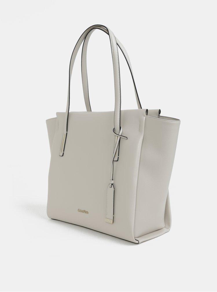 Krémová velká kabelka Calvin Klein Jeans