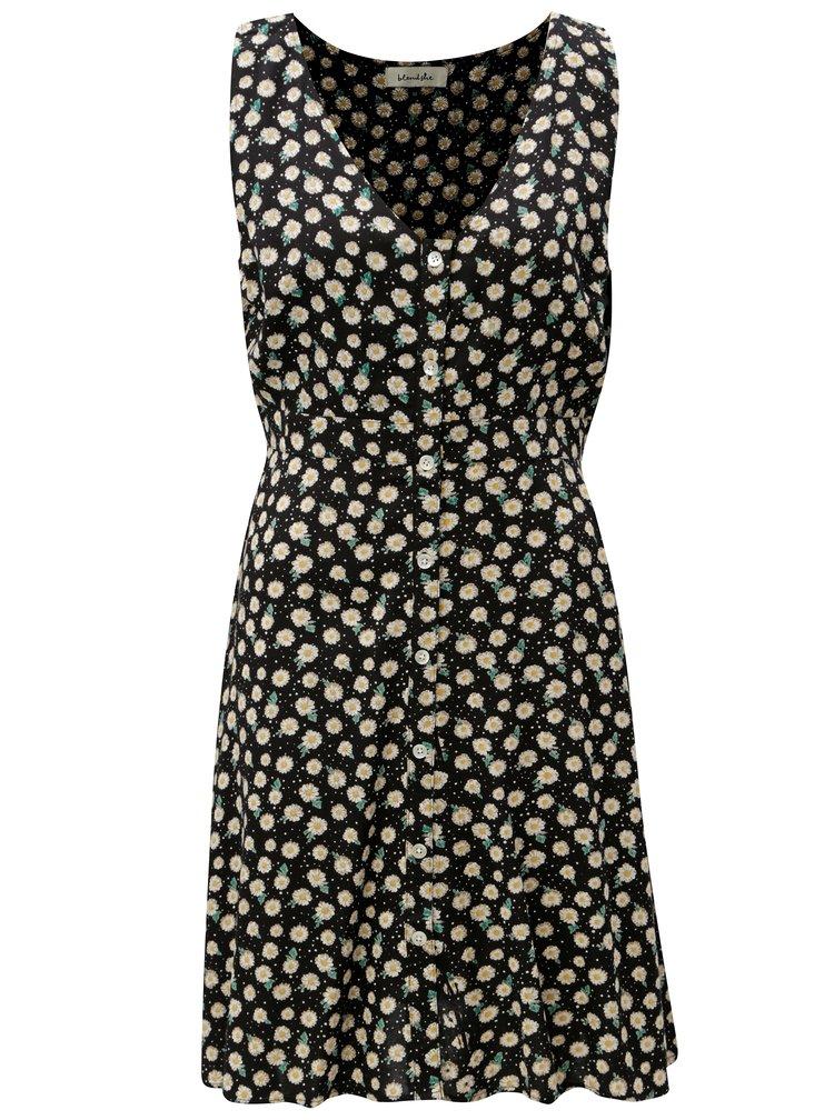 Čierne kvetované šaty Blendshe Jose