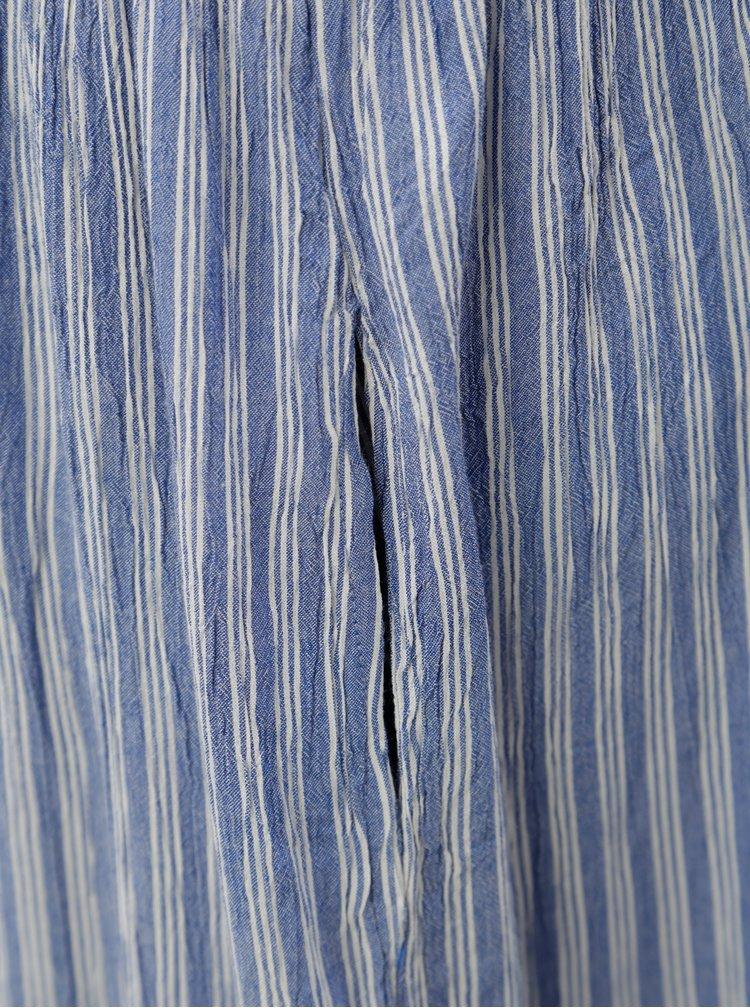 Modré pruhované midišaty na ramínka Blendshe Susi