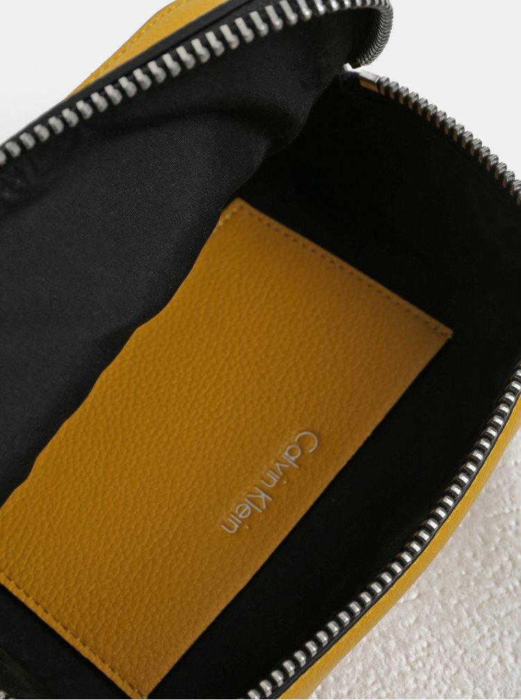 Žlutá malá crossbody kabelka Calvin Klein Jeans